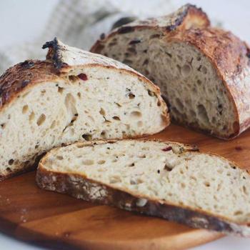 Ah Huat  Rustique malt loaf first slice