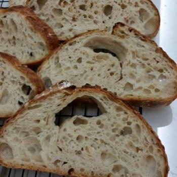 Ah Huat  Spelt Sourdough first slice