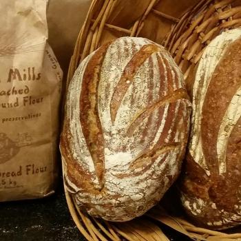 Basic Levain All about Flour first slice