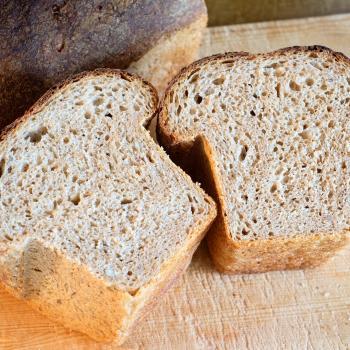 Bear Bread first slice