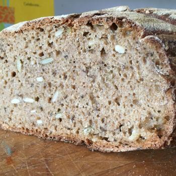 Bernie 100% whole grain breads first slice