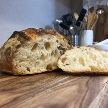 Brad Sourdough loaf second slice