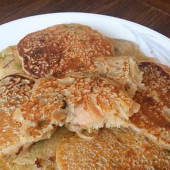 Bubbles Kimchi pancakes second overview