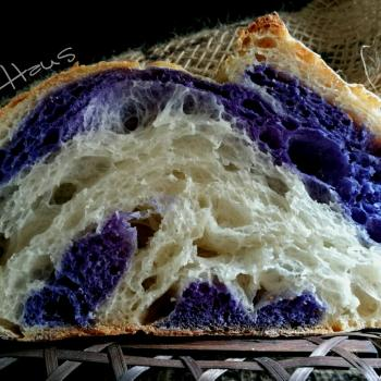Butterfly Pea  Butterfly Pea Flowers Sourdough Bread first overview