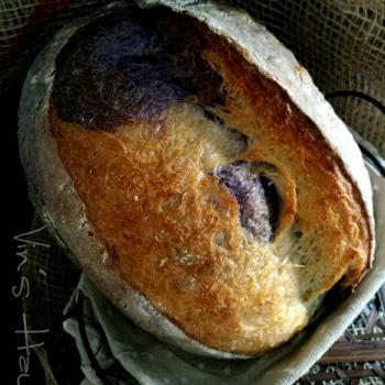 Butterfly Pea  Butterfly Pea Flowers Sourdough Bread second slice