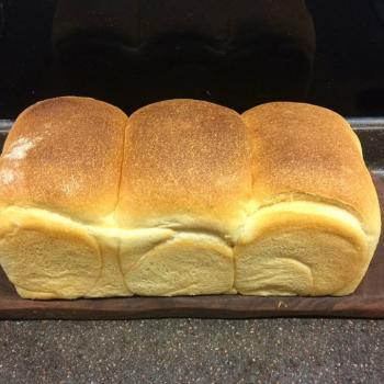 Fat Piggy Sourdough Tartine and plain bread first slice