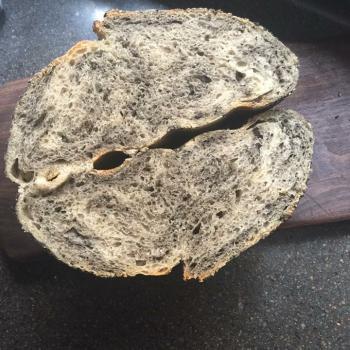 Fat Piggy Sourdough Tartine and plain bread second slice