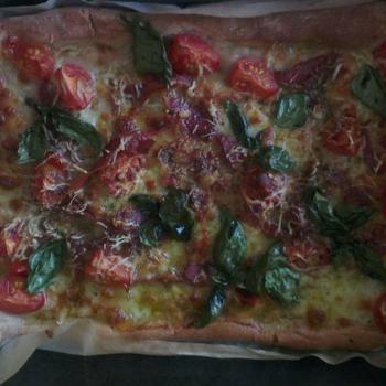 Guidough Sourdough Pizza first slice