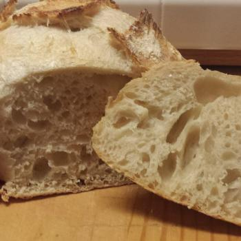 Horatio First Sourdough Loaf first slice
