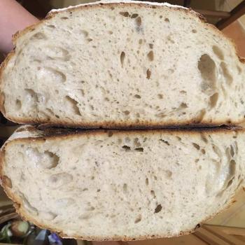 Juliska White bread with malt first slice