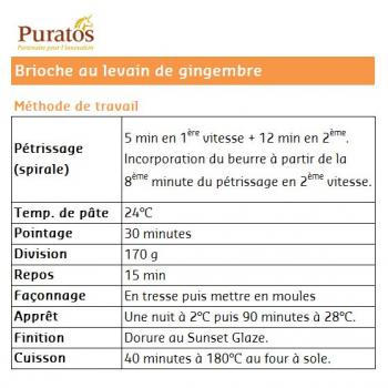 Levain au gingembre Brioche first slice