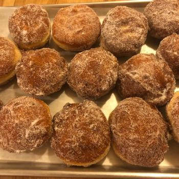 MacPike Family Starter Anita Sumer's Sourdough Donuts first overview