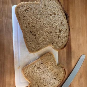 MacPike Family Starter MacPike Family Loaf Bread first slice