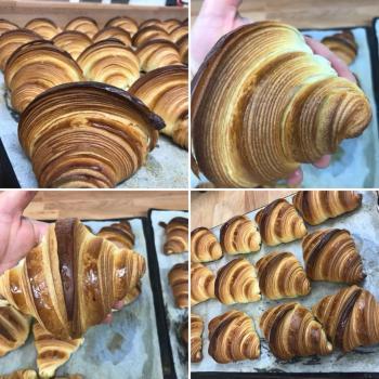 Merlin Croissant levain de lait  first slice