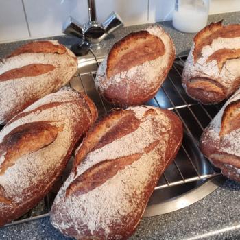 Mooswief Spelt bread first slice
