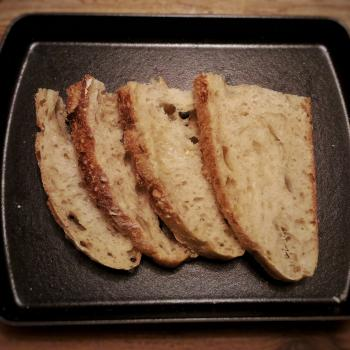 October White Sourdough Everyday Bread first slice