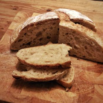 October White Sourdough Everyday Bread second slice