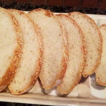 Olive Sunny Sourdough first slice