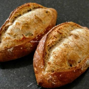Panem fermentatum Pães first slice