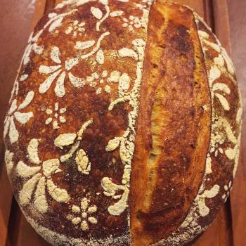 Precious Sourdough bread second slice