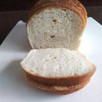Puneri Sandwich bread - great for lunch boxes first slice