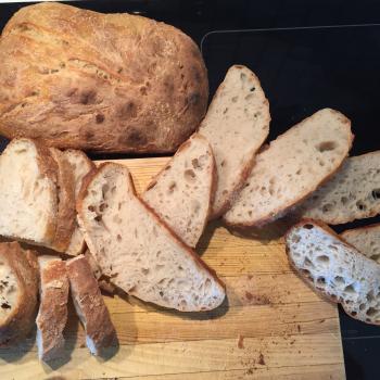 Ryean White Sourdough first slice