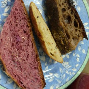 Sally Sourdough bread first slice