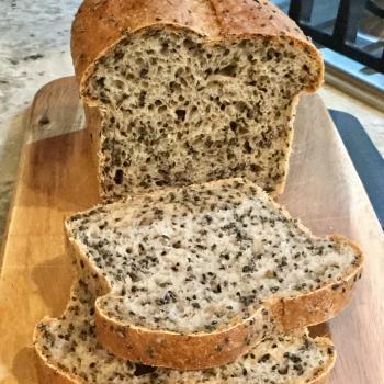 Sassy Cincy Sourdough Black Sesame Loaf  first overview