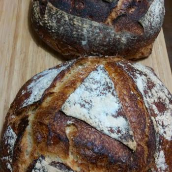 Tam buğday ekşimaya Tambuğday ekmeği first slice
