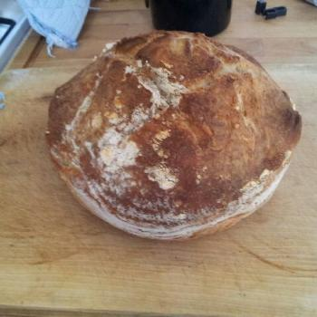 The Creature (Mark II) Worlds easiest and most delicious dutch oven bread second slice