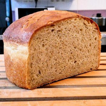 The Hulk Experimental bread. first slice